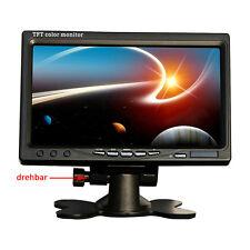 "7"" LCD Monitor 2 Eingang Auto KFZ Bildschirm für Kamera DVD Rückfahr Monitor DHL"