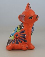 Mexican  Talavera  ChihuahuaDog Handmade  Decorative Folk Art Hand Painted  # 14