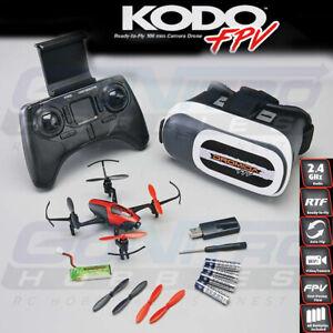 Dromida DIDE0016 KODO FPV Drone Quadcopter RTF w/ Camera / Goggles / Batt /Chrgr