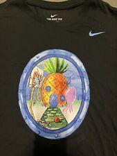 Nike Kyrie Irving X Spongebob Squarepants Shirt Pineapple House Black Men S2xl