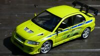 1:18 Fast & Furious Brian Paul Walker 2002 Mitsubishi Lancer Evolution VII Toy