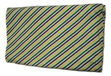 Mardi Gras Infinity Scarf Purple Green Yellow Knit White Pin Stripes