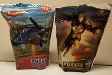 2 Jigsaw Puzzles On The Go MARVEL IRON MAN 3 & DISNEY PIXAR CARS 88561 & 27261