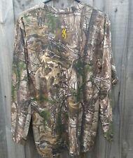 Browning Wasatch Realtree Camo Hunting Shirt Long Sleeve - XL