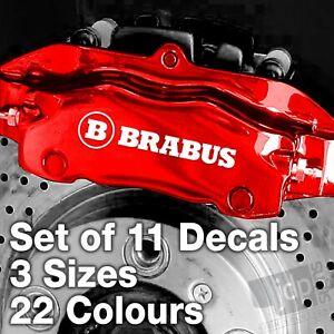 BRABUS BRAKE CALIPER VINYL STICKERS DECALS - SET OF 11 - 3 SIZES - 22 COLOURS