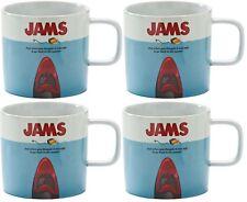 Set of 4 Large Coffee Mugs Fine Porcelain Jam Movie Made by Typhoon