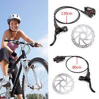 Disc Brake MTB Mountain Bike Hydraulic Brake Set Front Rear Black + 160mm Rotors