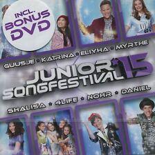 Junior Songfestival 2015 : all songs + karaoke versions + videoclips (CD + DVD)