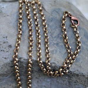 besonders stabile Erbskette Bronzekette L: 45cm x 3,5mm 18,5g Karabinerverschluß