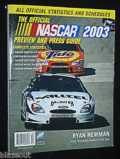 NASCAR 2003 Guide Official Auto Racing Gordon Earnhard Daytona Winston Cup Race
