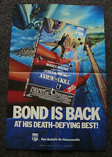 A VIEW TO KILL 1985 ORIG VHS HOME VIDEO MOVIE POSTER 007 JAMES BOND ROGER MOORE