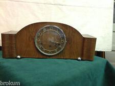 1930's Art Deco Mantel Clock Westminster Chime Chrome Ball Feet~ Works ~ Germany