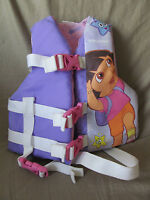 Dora the Explorer Stearns Ski Vest Life Jacket Child Size Weight 30-50 lb Purple