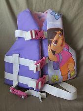 Dora the Explorer Stearns Ski Vest Life Jacket Child Size Weight 30-50 lb Purple
