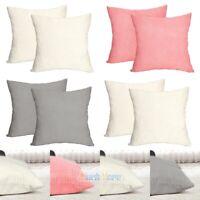 "2Pack 20x20"" Pillow Case Corduroy Velvet Sofa Car Throw Cushion Cover Home Decor"