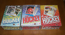 3 TOPPS UNOPENED HOCKEY CARD BOXES - 1988-89 - 1989-90 - 1990-91