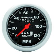 "Auto Meter Speedometer Gauge 3992; Sport-Comp 0 to 120 MPH 3-3/8"" Mechanical"