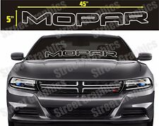 mopar car or truck windshield vinyl banner decal sticker SILVER OUTLINE