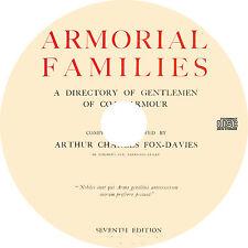 Armorial Families - Directory of Gentlemen of Coat Armour (1929) Book on CD