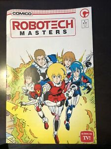 Autographed by Neil Volkes & Rich Rankin: COMICO Robotech Masters #1 in NM- cond