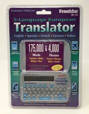 FRANKLIN TWE-106 5 Language European Translator Spanish French German Italian