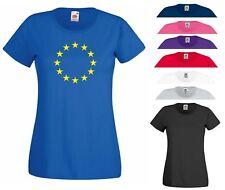 European Union T Shirt EU Flag Brexit Euro EU Stars Remain Gift Women Tee Top