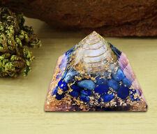 Extra Large Orgone Pyramid Lapis Lazuli Crystal Energy Generator EMF Protection