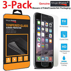 3 PACK New Premium Real Tempered Glass Screen Protector for Apple iPhone 7 Plus