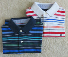 Tommy Hilfiger men's lot of 2 summer casual POLO shirts SMALL classic fit EUC