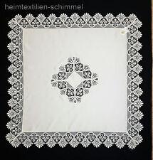 Plauener spitze Tischdecke Tischdeckchen Deckchen Mitteldecke Allzeit weiß 95x95