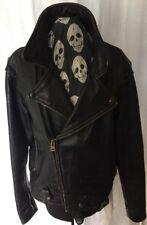 Vanson Vintage Black Leather Motorcycle Jacket Size 46 Boston Mass. USA