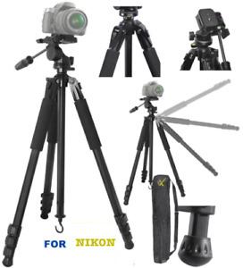 "80"" PROFESSIONAL TITANIUM ALLOY HEAVY DUTY TRIPOD FOR NIKON D3400 D5600 D7100"