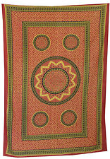 Indian Wall Hanging Bed Bedcover Decor Star Mandala Twin Tapestry Cotton Throw