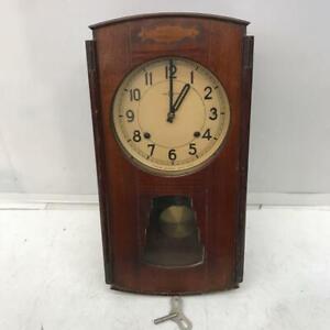 Vintage ultra-rare SEIKOSHA wooden bonbon wall clock pendulum clock ship fr JPN!