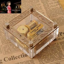 Acrylic Cubic Gold Wind Up Music Box ♫ Spirited Away - Always With Me ♫