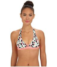 NWT $35 HURLEY SWIM  PRISM  ARGYLE DIAMOND   SMALL Coral Pink  Top  ONLY  ***