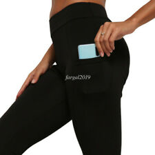 High Waist Fitness Gym Workout Pants Push Up Trousers Pocket Women Yoga Leggings