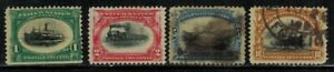 United States #294-5,297,299 1901 Mint No Gum/Used