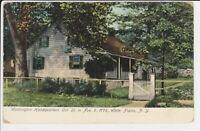Washington Headquarters 1776 White Plains NY postcard view New York 1908 POSTED