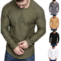 Men Long Sleeve Fall Winter Casual Sweatshirt Tops Blouse Pullover Tracksuits UK