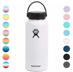 NEW Hydro Flask 32oz Wide Mouth Flex Cap Vacuum Insulated Stainless Water Bottle