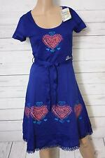 Desigual Damen A-Linie Kleid DAMALIS, Knielang, Blau, Gr. S