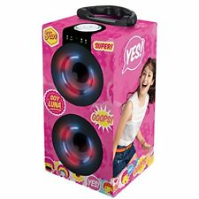 Soy Luna  Mini Torre Portátil con Altavoces Bluetooth USB Ranura SD con Luz NEW