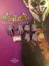 Hot Toys Batman Arkham Asylum VGM27 Joker Gloved Hands x 6 loose 1/6th scale