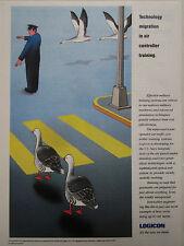 89-90 PUB LOGICON MILITARY AIR CONTROLLER TRAINING MIGRATION OISEAU OIE BIRD AD
