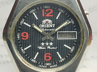 Vintage Orient Day/Date Mens Analog Mechanical Automatic Wrist Watch OG238