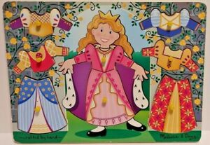 Melissa & Doug Princess Dress Up Mix And Match Peg Puzzle