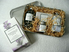 Williams Sonoma Essentials Oil Lavender Collection Gift Set Lotion 2 Soap Candle