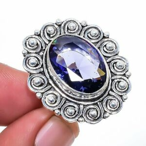 African Amethyst 925 Sterling Silver Jewelry Ring s.7 S2659