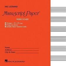 Wide Staff Manuscript Paper (Red Cover) by Hal Leonard Publishing Corporation (Paperback / softback, 1986)